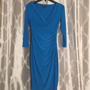 EUC Ralph Lauren Surplice Faux Wrap Dress, 2